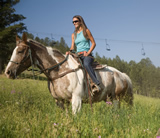 Enjoy a variety of activities, including horseback riding